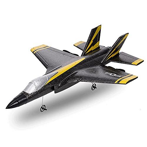 CHENBAI Ferngesteuerter Kämpfer, Starrflügel, F35 Ferngesteuertes Flugzeug, 2-Kanal Ferngesteuerter Hubschrauber, EPP-Schaum-Segelflugzeug-Modell-Spielzeug, Geeignet für Erwachsene, Kinder und Anfänge