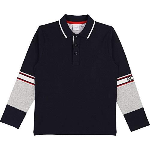 BOSS Hugo Kinder Poloshirt L/S Gr. 10 Jahre, Navy