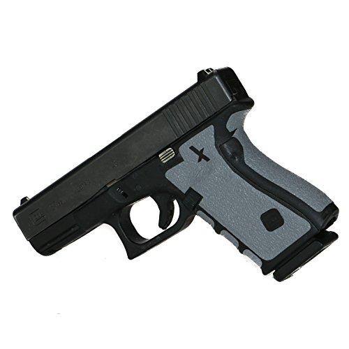 Foxx Grips -Gun Grips Compatible for Glock 17, 22, 24, 31, 34, 35, 37 Grey (Grip Enhancement)