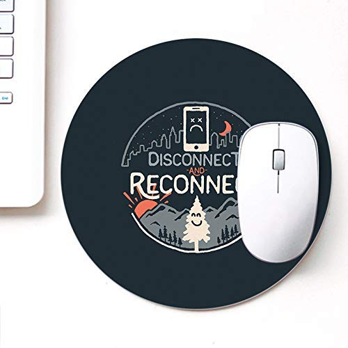 Designer Printed Round Mouse Pad für Laptop n Computer Reconnect | Rundes Mauspad | Mousepad für Gamer | Gaming Mousepads