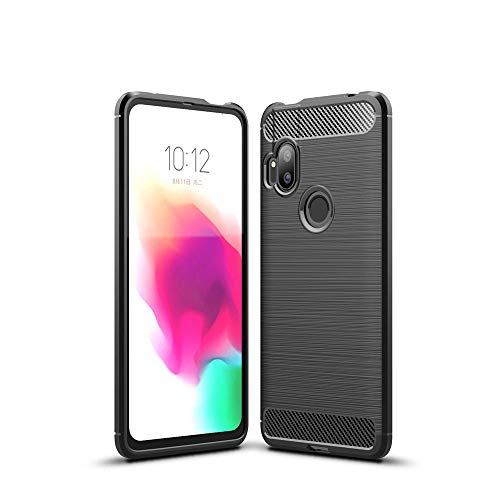LAGUI Passend für Motorola One Hyper Hülle, Superdünne Elegantes Flexibles TPU Anti-Scratch Schutzhülle, schwarz