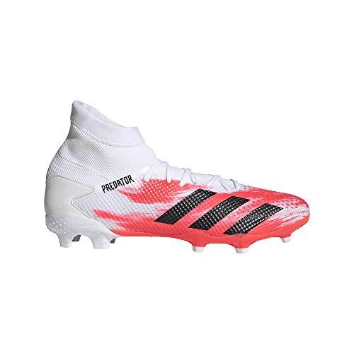 adidas Predator 20.3 FG, Botas de fútbol. para Hombre, Ftwwht Cblack Pop, 41 1/3 EU