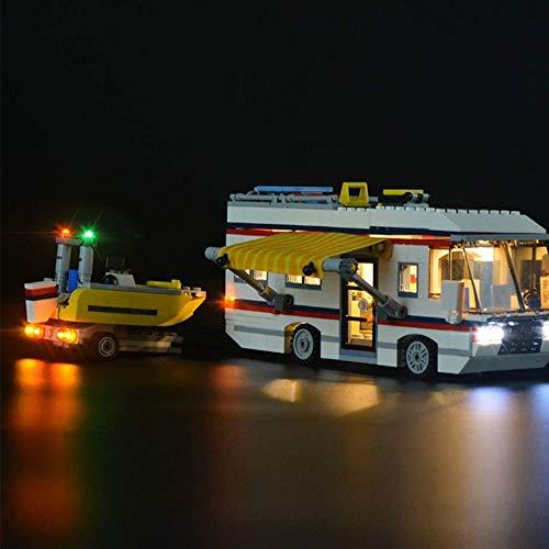 ZJJ Kit De Iluminación Compatible con Lego 31052 del LED Light Kit para (Creador De Expertos Las Vacaciones Getaways) Building Blocks, (No Incluido Conjunto De Lego)