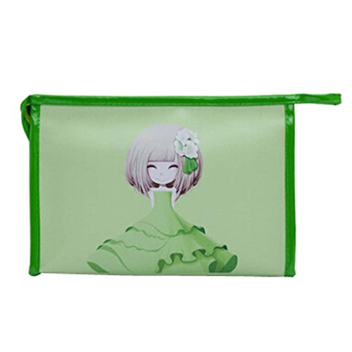 Populaire Flower Girls Cosmetic Containers étanches Cosmetic PU Sacs