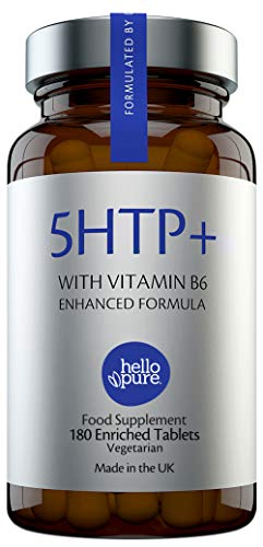 5HTP +Plus – Ultra High Strength 5 HTP – 400mg Vegan Griffonia Seed Extract Equivalent + 100% NRV Dose of Vitamin B6 – High Absorption 5-HTP Capsules (Not Tablets) Alternative Stress & Anxiety Relief