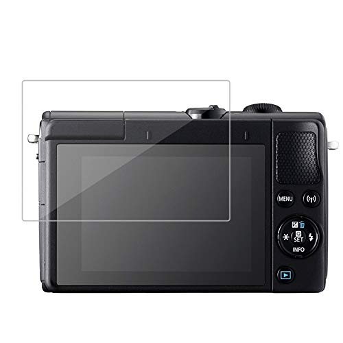 [MIWA CASES] Canon EOS Kiss M/Kiss M2 / M100 / M6 Mark II 強化ガラス保護フィルム 液晶プロテクター 硬度9H 0.26mm厚ガラス ラウンドエッジ キャノン