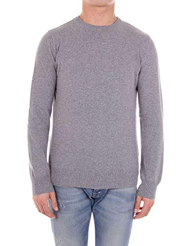 ANDREA FENZI Luxury Fashion Herren BI501G01LIGHTGREY Grau Wolle Sweater   Jahreszeit Outlet