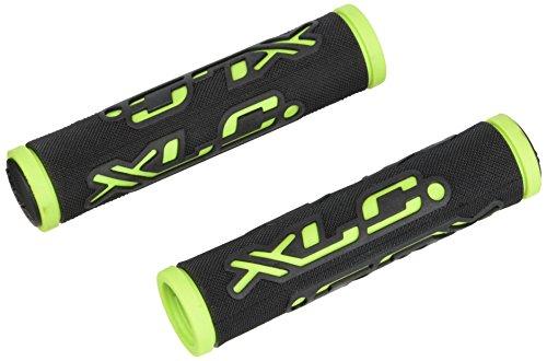 XLC Unisex– Erwachsene Griffe Dual Colour GR-G07, Schwarz, grün, Unisize