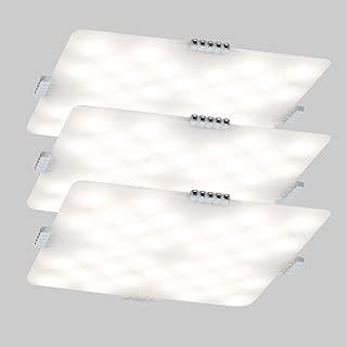 Unique design DANCRA LED Under Cabinet Light Kit, Square Super Thin 0.12'' 24V Closet Lights with Hand Wave Sensor Super Bright Warm White Cabinet Lighting