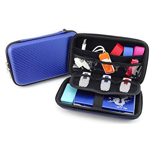 Hard Shell Diabetic Supplies Travel Case Organizer Bag for Blood Glucose Monitoring Systems, Sugar Test Strips, Medication, Insulin, Pens, Syringes, Needles, Lancets, Nikon & Sony Camera (Blue)