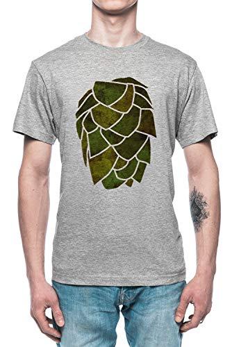 Hopfen Kegel Herren T-Shirt Tee Grau Men's Grey T-Shirt
