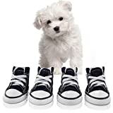 abcGoodefg Pet Dog Shoes Puppy Canvas Sport Sneaker Boots, Outdoor Nonslip Causal Shoes, Rubber Sole Soft Cotton Inner Fabric Shose for Snall Dog #2(1.331.73), Dark Blue