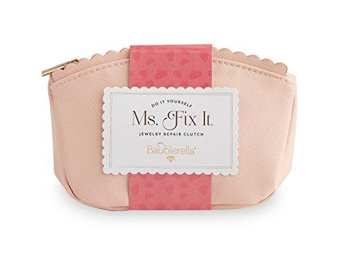 Baublerella | Ms. Fix It Jewelry Repair Kit | 30 Piece Set | Perfect for Travel | Clutch Bag