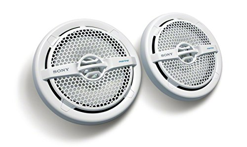 Sony XSMP1611 6.5-Inch Dual Cone Marine Speakers (White)