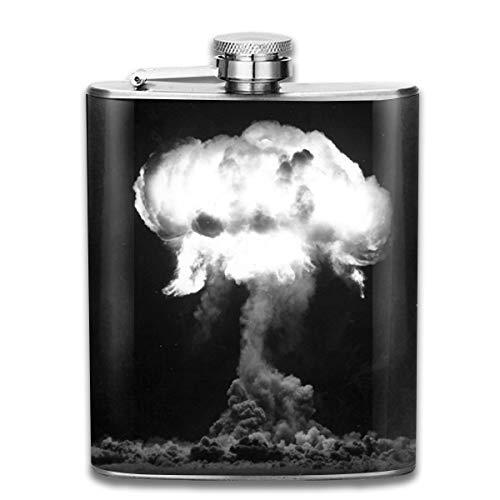 Cute Bi Die Trinity Nuclear Test Flachmann Tasche Flasche Flagon 7Oz Portable Edelstahl Flagon für Reisen Camping Bar