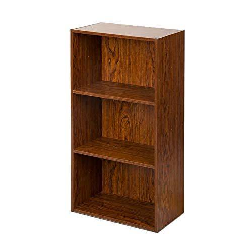 QAZ opbergkast boekenkast boekenkast houten kast gratis combinatie rooster kast woonkamer rack opbergkast eenvoudige kleine kast