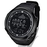 AMYSPORTS Men Outdoor Fishing Watches Waterproof Hiking Digital Watch Sport Altimeter Black Barometer Watch Outdoors Fishing Rugged Strap