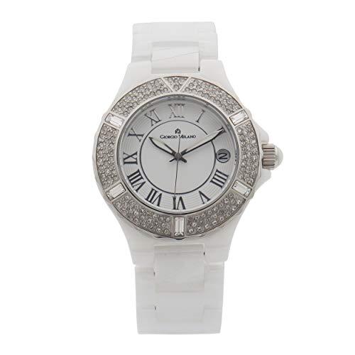 Giorgio Milano 863CWST01 - Reloj de pulsera para mujer (mecanismo de cuarzo, esfera blanca)