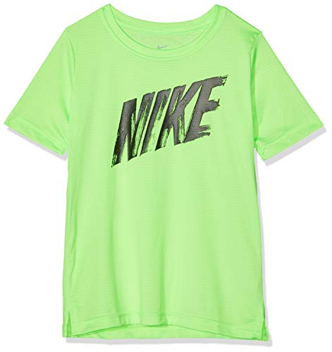 Nike Top Short-Sleeve, T-Shirt Bambino, Lime Blast/Black, S