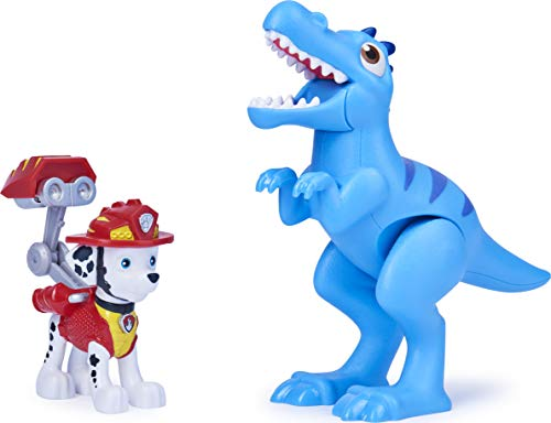 Paw Patrol, Dino Rescue Marshall and Dinosaur Action Figure Set, for Kids Aged 3 and up