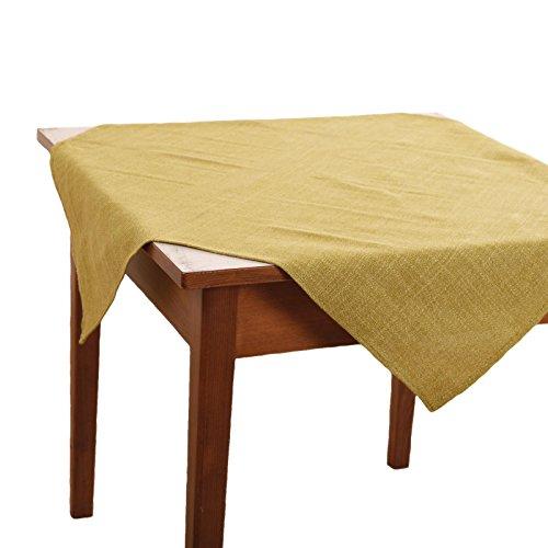 Hans-Textil-Shop Tischdecke 90x90 cm Grün Polyester (Deko, Eckig, Garten, Wachstuch, Tischtuch, Gartentischdecke)