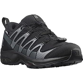 Salomon XA PRO V8 CSWP Chaussures Imperméables Randonnée Marche Enfant - Noir (Black/Black/Ebony) - 33 EU