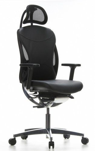 Topstar Schwerlaststuhl/Bürostuhl STABLY Chair 40 Leder schwarz