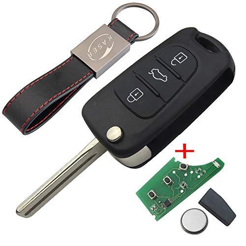 2x Clavier pour Hyundai//Kia pliante Clé Radio Télécommande 3 Touches