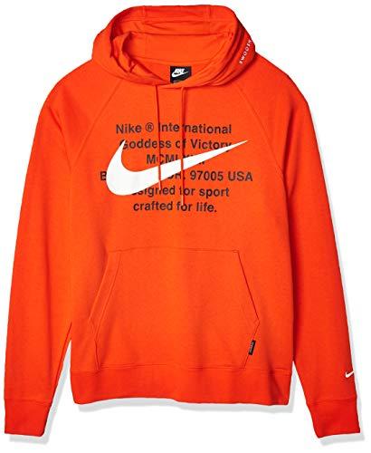 Nike CJ4863-891, Felpa Uomo, Opacity, Team Arancione / Bianco, XXL Regular