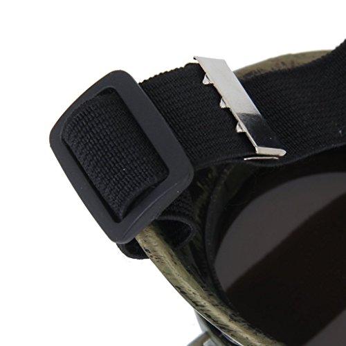 TOOGOO(R)) Schutzbrille Jahrgang Steampunk Brille Zyklop Brille Gotik Cosplay Kostuem Fuer das Linke Auge£¨Bronze£©