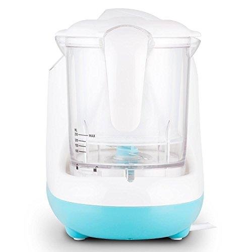 Klarstein Junior Chef Linus • Babynahrungszubereiter • 5-in-1 Mixer • Dampfgarer • Sterilisator • 700 Watt Heizelement • 200 Watt Motor • Mixbecher • Dampfeinsätze • Spritzschutz • blau-weiß - 4