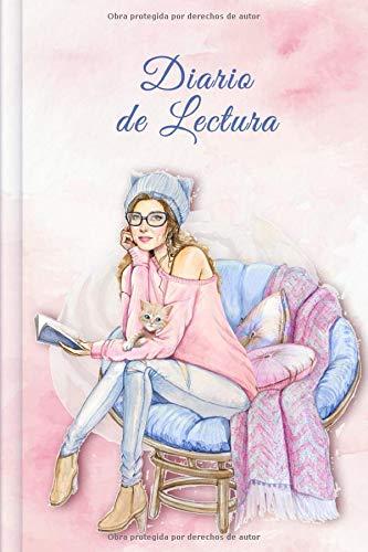 Diario de Lectura: Book Journal a completar | para todos los amantes de los gusanos de libros y de la literatura | Motivo: Ragazza che legge