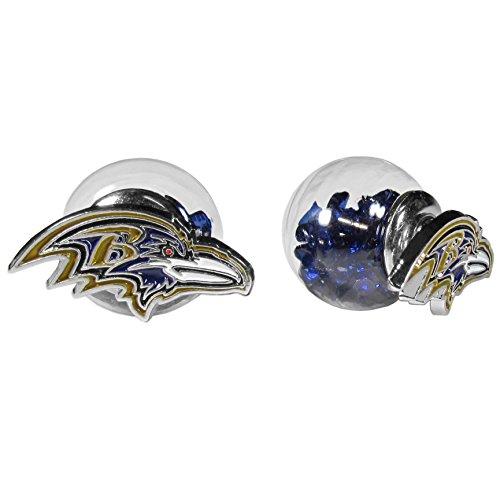 NFL Siskiyou Sports Fan Shop Baltimore Ravens Front/Back Earrings One Size Team Color