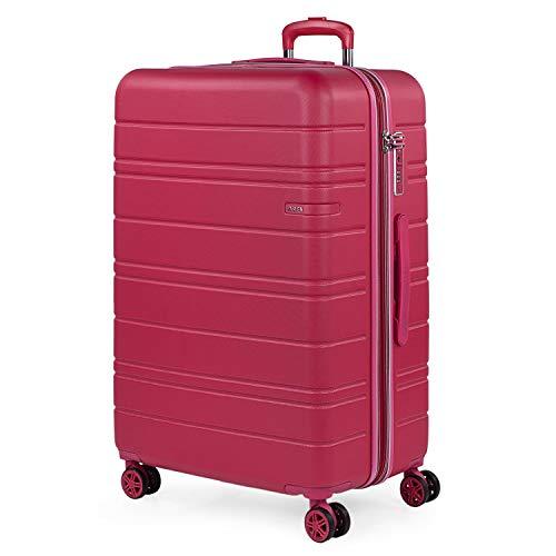 JASLEN - Maleta Grande de Viaje 4 Ruedas Trolley Extensible Rígida de ABS. Dura Práctica Cómoda Ligera y Bonita Marca y Estilo. Candado TSA. Viajes Largos.171270, Color Fresa