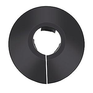 12 Piezas de Collar de Tubería de Plástico Cubierta de Tubería de Radiador para Tubo de Diámetro de 15 mm (Negro)