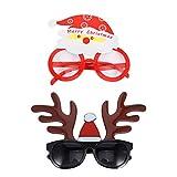 2Pcs accessori capodanno 2021 occhiali gadget bambini buon compleanno party natale -Natale...