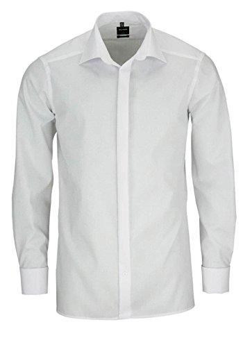 Olymp Galahemd Modern Fit Kent Umschlagman, Weiß, Größe 40