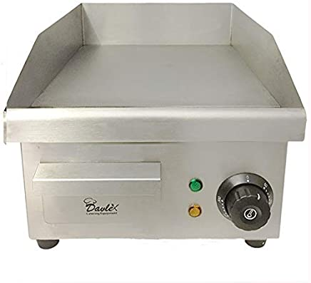 Davlex Commercial Electric Griddle Hotplate Burger Bacon Egg Fryer Grill 380 x 280mm cooking area