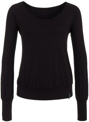Yoga Shirt à Manches Longues Haut noir, SITA à hommeches longues de chapeau et berg
