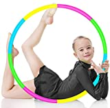BILIGILA Exercise Hoops for Kids, Detachable Adjustable Weight Size Colorful Hoops Suitable for Fitness, Bodybuilding, Gymnastics, Dance, Lose Weight, Playing