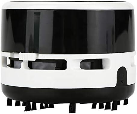 Desktop vacuümreiniger licht Fineinno Mini vacuüm bureaublad plastic en nylon borstel gum residuen zwart