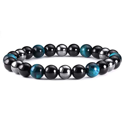 Pulsera de piedra natural, regalo para hombre, pulsera de piedra protectora, regalo para mujer