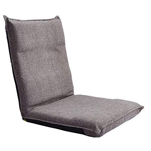 LJFYXZ Chaise de Sol Chambre Jolie Fille Dos Ajustable Chaise Pliante Individuel Chaise d'ordinateur Confortable Marron et Beige (Couleur : Brown)