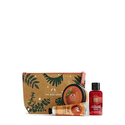 The Body Shop Sweet Mango and Strawberry Holiday Beauty Bag, With Fruity Body Care Treats