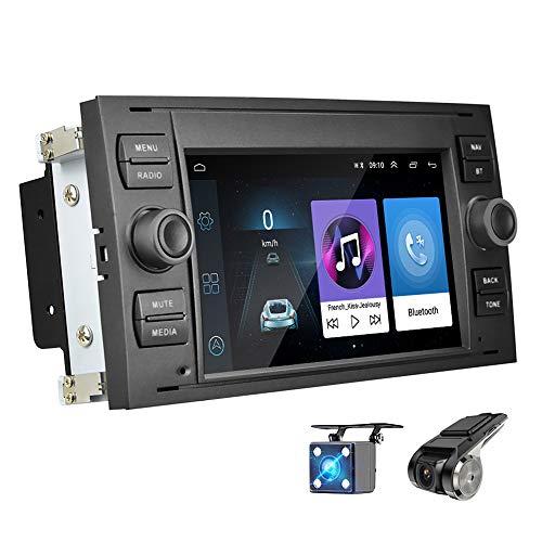 """Android 8.1 Autoradio für Ford Focus Mondeo ZIJIN 7\""""Autoradio-Unterstützung GPS-Navigation WiFi Dual USB DVR-Recorder für Ford Focus Mondeo C-Max S-Max Galaxy Kuga + Kostenlose Kamera"""