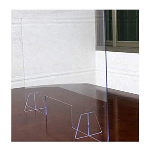Divisor protector de acrílico transparente para oficina, antisalpicaduras, para oficinas, salas de estar, salones de uñas, 60 x 30 cm
