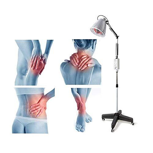 XBAO Fisitherapie met temperatuurregeling, elektrische warmtestraler voor buiten, met infrarood lamp, draaibare lampenkop