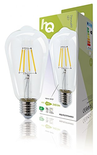 LED Filament Lamp Retro Dimbaar E27 ST64 Clear 4W 345LM 2700K