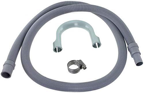 Spares2go - Manguera de drenaje para lavavajillas Bosch (1,5 m, 19 mm/22 mm)