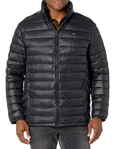 Calvin Klein Men's Classic Packable Down Jacket, black, Small